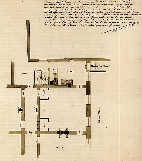 Indeling noordeinde 1e verdieping - Plan slaapkamer kleedkamer ...